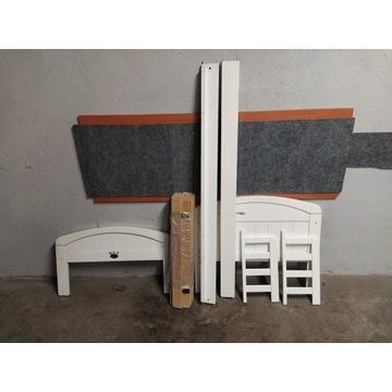 Łóżko dziecięce 70x140 drewniane białe