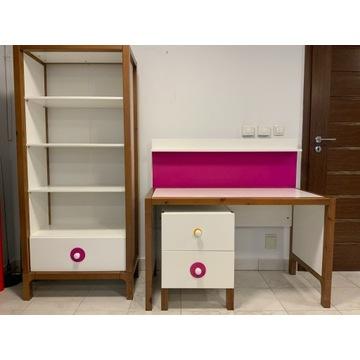 Zestaw: biurko, kontener, regał (marka Pinio)