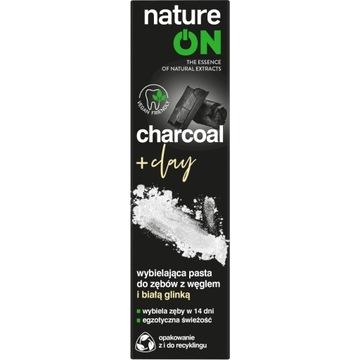 NatureOn charcoal white + clay pasta do zębów