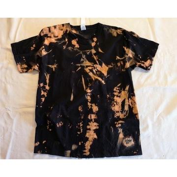 Reverse Dye, wzór Tie Dye- nowa koszulka rozmiar L