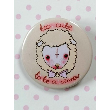 Przypinka Owca -Too cute to be a sinner-