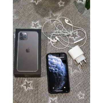 iPhone 11 Pro 64Gb, Space Gray, gwar.,szkło,etui