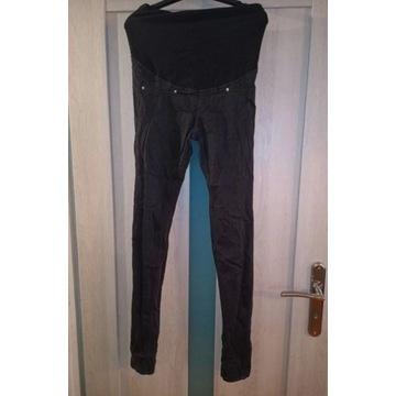 Czarne spodnie ciążowe jeans rurki r XS 34