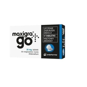 Maxigra go - 4 tabletki - sildenafil 25mg - APTEKA