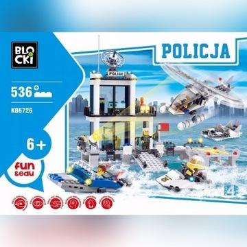 Klocki Blocki Policja 536 el Komisariat Motorówka