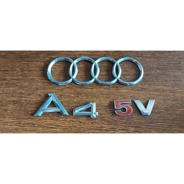 Audi emblematy znaczki a4 5v 1.8 orginał