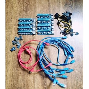Riser 009S i 008C | USB 3.0 | PCI-E | 6PIN - SATA