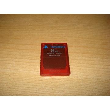 Karta pamięci PS2 czerwona oryginał