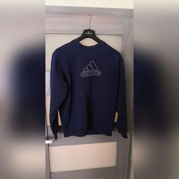 Bluza Adidas roz L duży miękki napis, granatowa