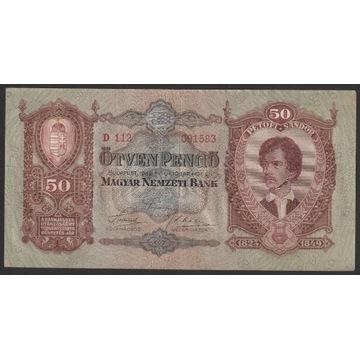 Węgry 50 pengo 1932 - D 112 - Petofi Sandor