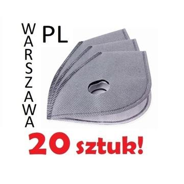 FILTR N99 PM2.5 maski antysmogowej |20 sztuk|