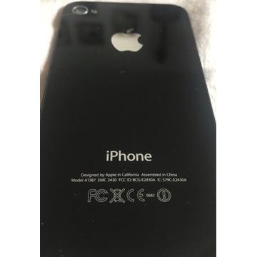 Tył iphone 4 oryginał czarny szkło