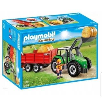 Klocki Playmobil 6130 Traktor z przyczepą