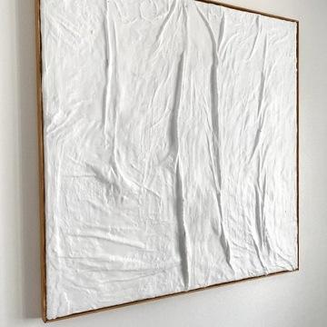 Rzeźba płaskorzeźba relief obraz 80x80cm