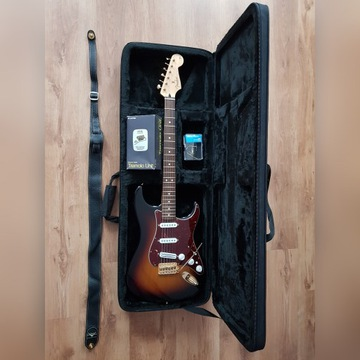 Fender deluxe stratocaster MiM, BOGATY ZESTAW