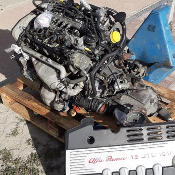 Silnik 1,9 JTD-m 140 KM Alfa cały+skrzynia+półosie