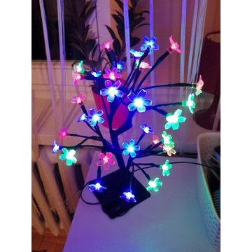 Drzewko lampka RGB Led 230v