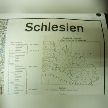 Mapa  Schlesien 1954r.