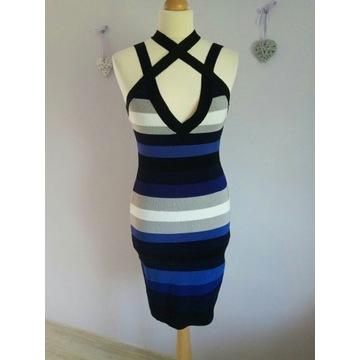 Karen Millen bandazowa sukienka rozmiar 38