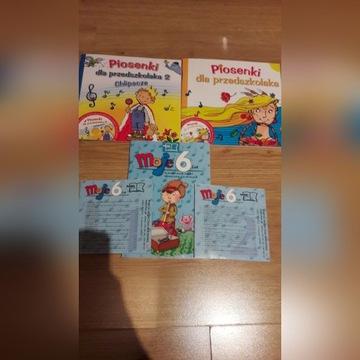 Piosenki dla przedszkolaka 1 i 2, moje 6 lat + 2CD