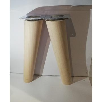 Nogi nóżki drewniane bukowe H-20 cm Skośna