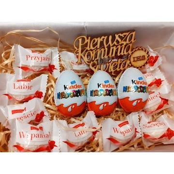 Słodki zestaw prezentowy na Komunię Świętą