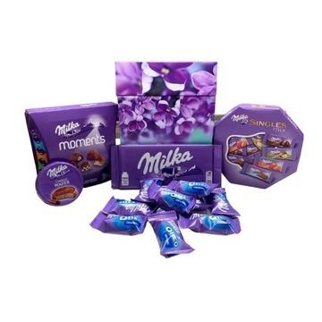 Milka Box zestaw słodyczy w kwiatowym pudełku