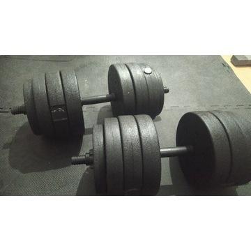 Hantle 2x 20kg, 40kg domowa silownia, fitness, dom