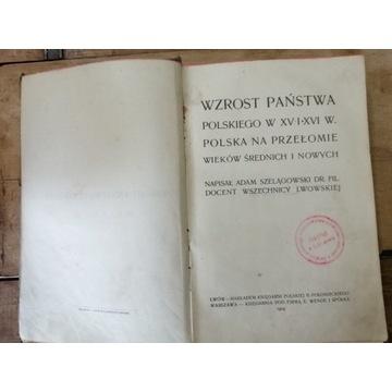 Stara książka WZROST PAŃSTWA POLSKIEGO