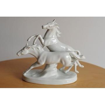Figurka porcelanowa konie Carl Scheidig 7315