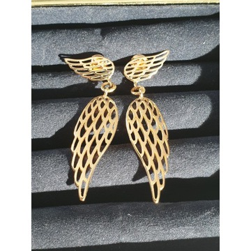 Kolczyki Lilou wiszące skrzydła.