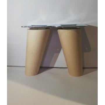 Nogi nóżki drewniane bukowe H-10 cm Skośna