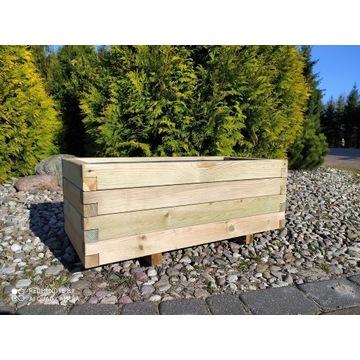 Donica z drewna skrzynia drewniana 80x40 wkład