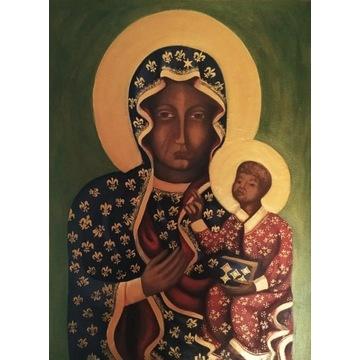 Ręcznie malowany obraz, Matka Boska Częstochowska