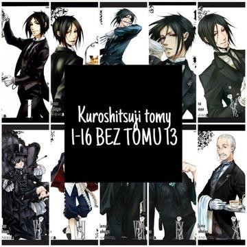 "Manga ""Kuroshitsuji"" tomy 1-16 (BEZ TOMU 13)"