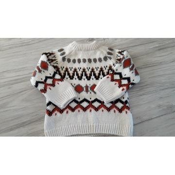 Sweterek ciepły wełniany ZARA rozm. 92