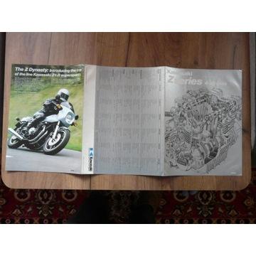 Motor Kawasaki Zseries prospekt wydanie angielskie