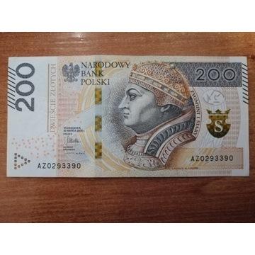 Banknot 200 zł seria AZ