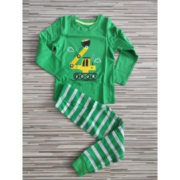 Piżama koparka bluzka spodnie 104/110
