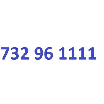 732 96 1111 starter play ładny złoty numer