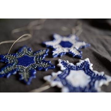 Ceramiczne gwiazdki ozdoba świąteczna na choinkę