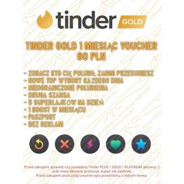 Tinder Gold 1 miesiąc Voucher