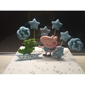 Gotowa dekoracja na tort Swinka George