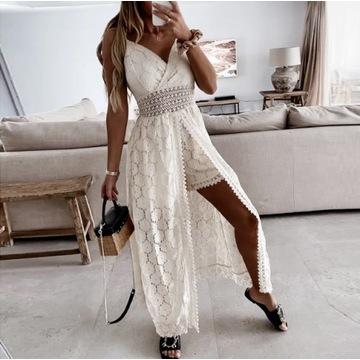Pareo narzutka sukienka koronkowa spodenki S-XL
