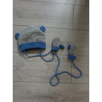 Czapka zimowa i rękawiczki niemowlęce 5.10.15