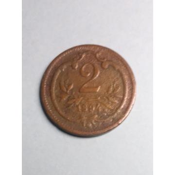 Moneta 2 halerze 1894