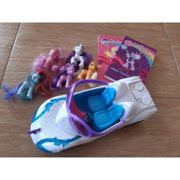 My Little Pony kucyki figurki, samochód książki
