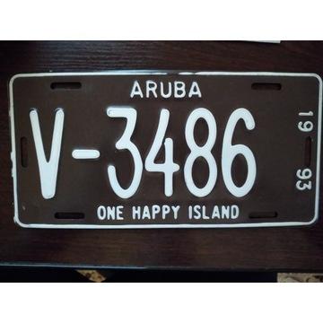 Aruba   tablica rejestracyjna oryginal