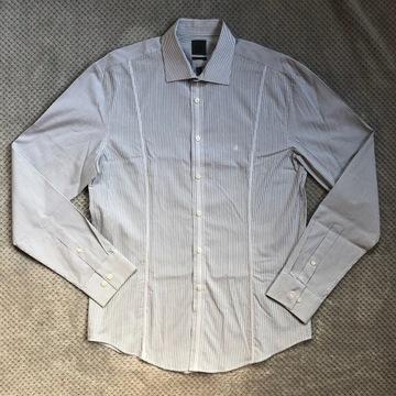 CALVIN KLEIN NOWA koszula męska biała prążki slim