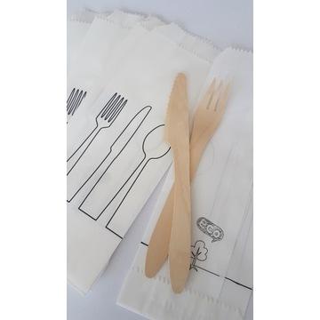 Torebki papierowe na sztućce